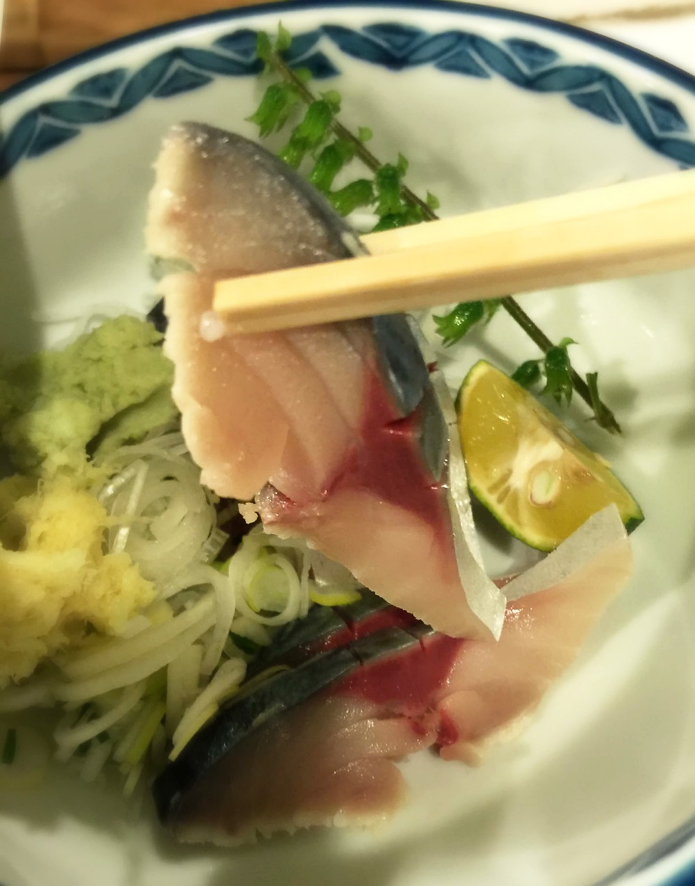 Shime-saba (marinated mackerel) @ Sanshuya