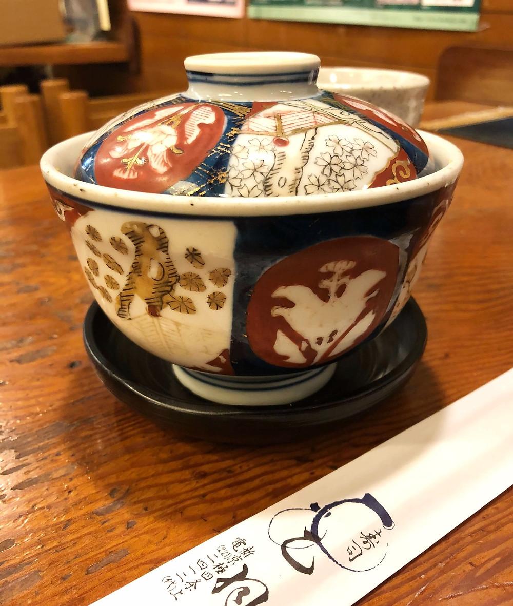 Old Imari Bowl for Mushi Zushi @ Otowa in Kyoto