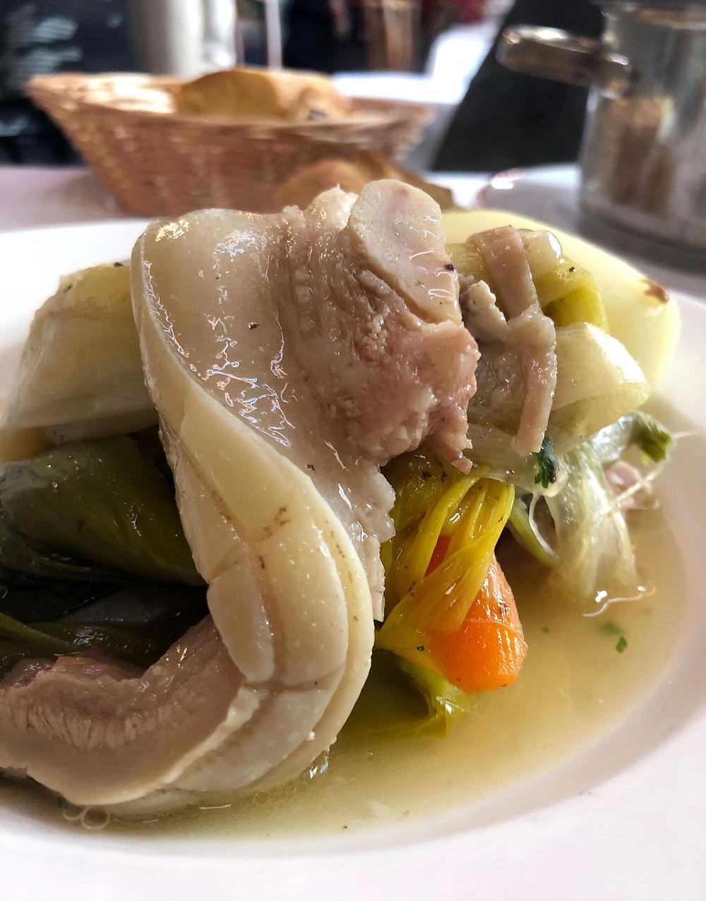 Tête de veau, sauce gribiche at Chez Paul