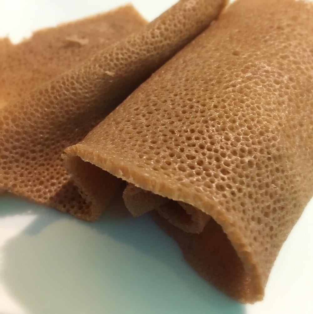 Warning: Trypophobics! Up close and personal with injera @ Andu Cafe