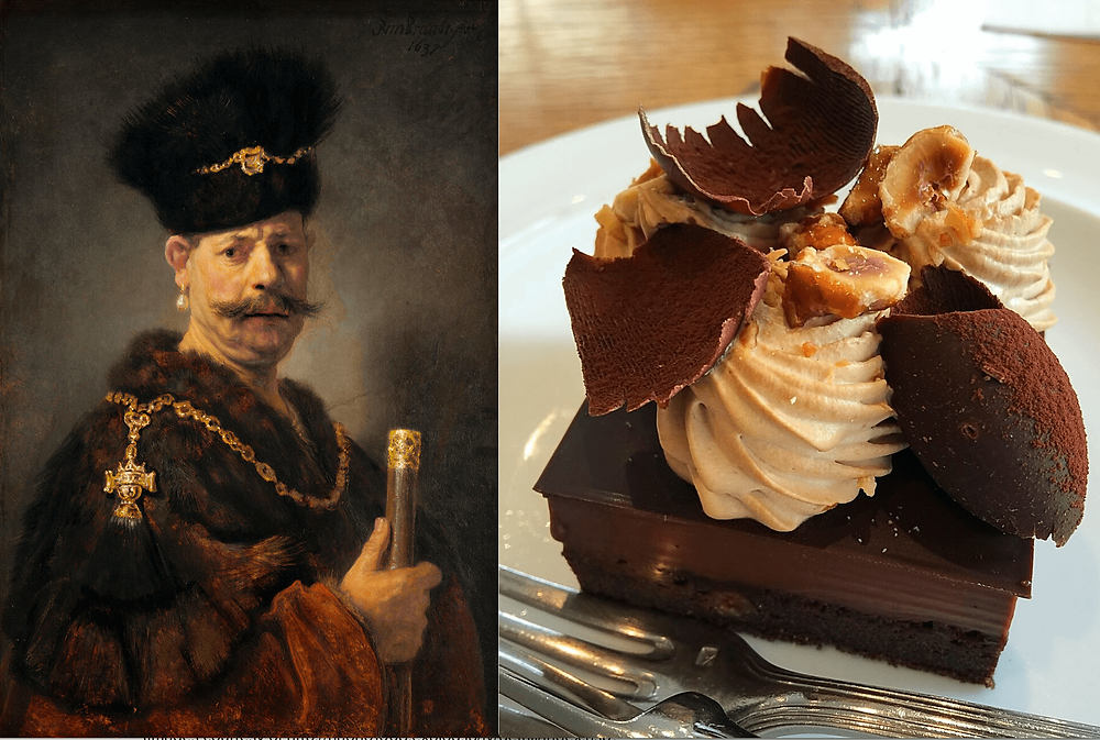 Cafe Tonka & The Polish Nobleman by Rembrandt