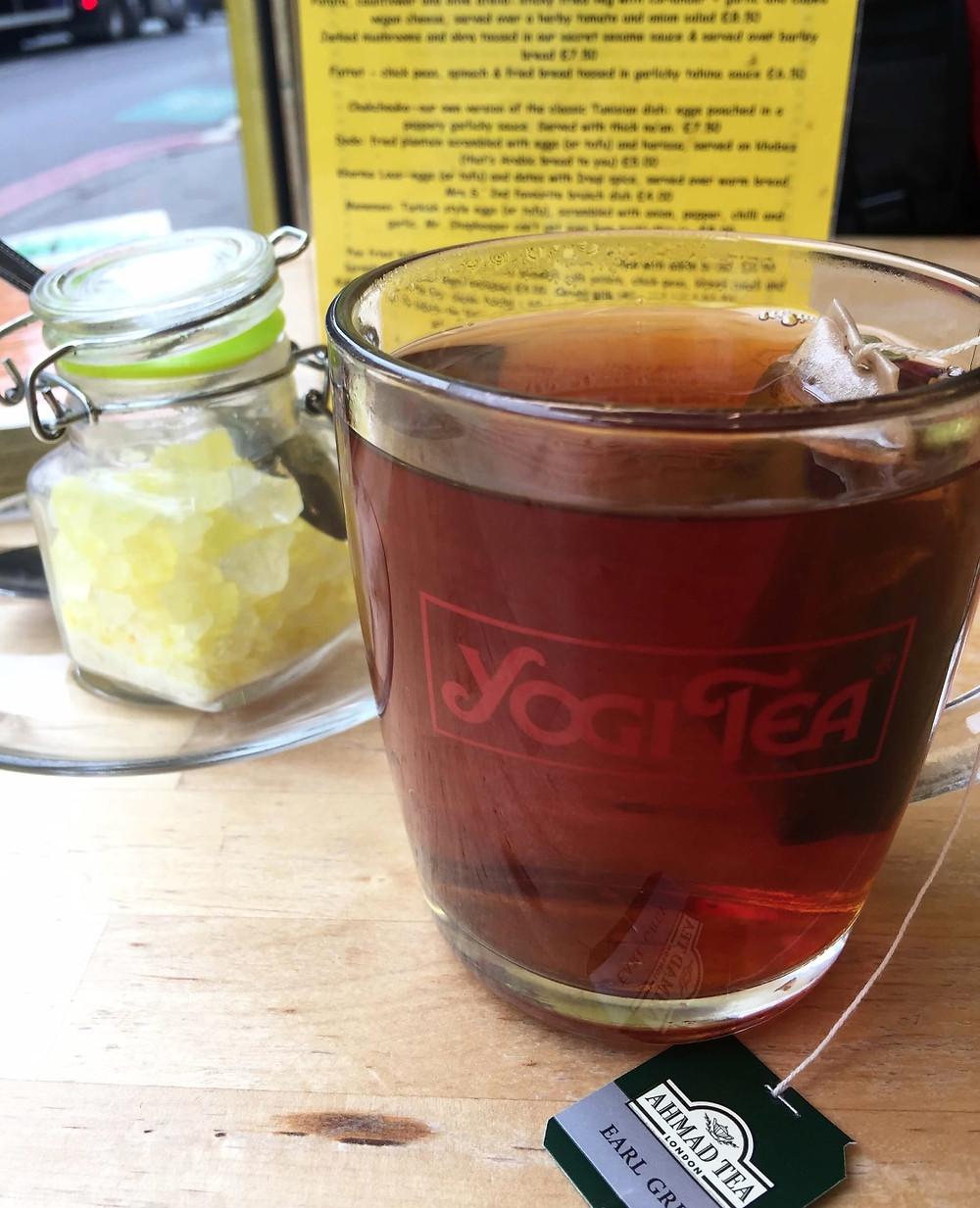 Persian tea in a YogiTea cup