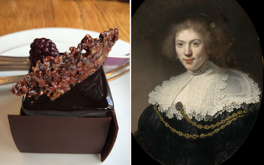 Le Supreme & Portrait of Woman Wearing a Gold Chain by Rembrandt