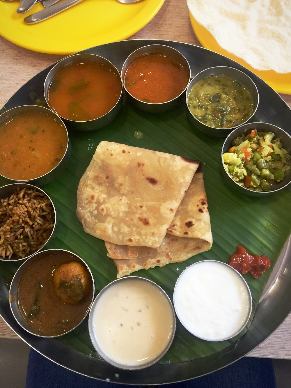 Vegetarian meals @ Sangeetha in Chennai