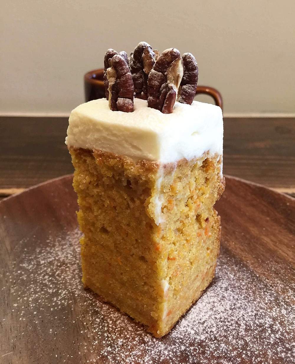 A new carrot cake at ZiZi Bake in Osaka