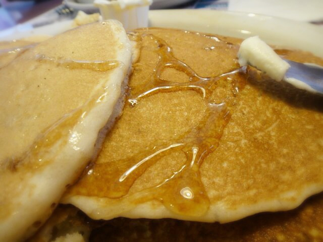 Pancakes with a backbone @ Hightstown Diner