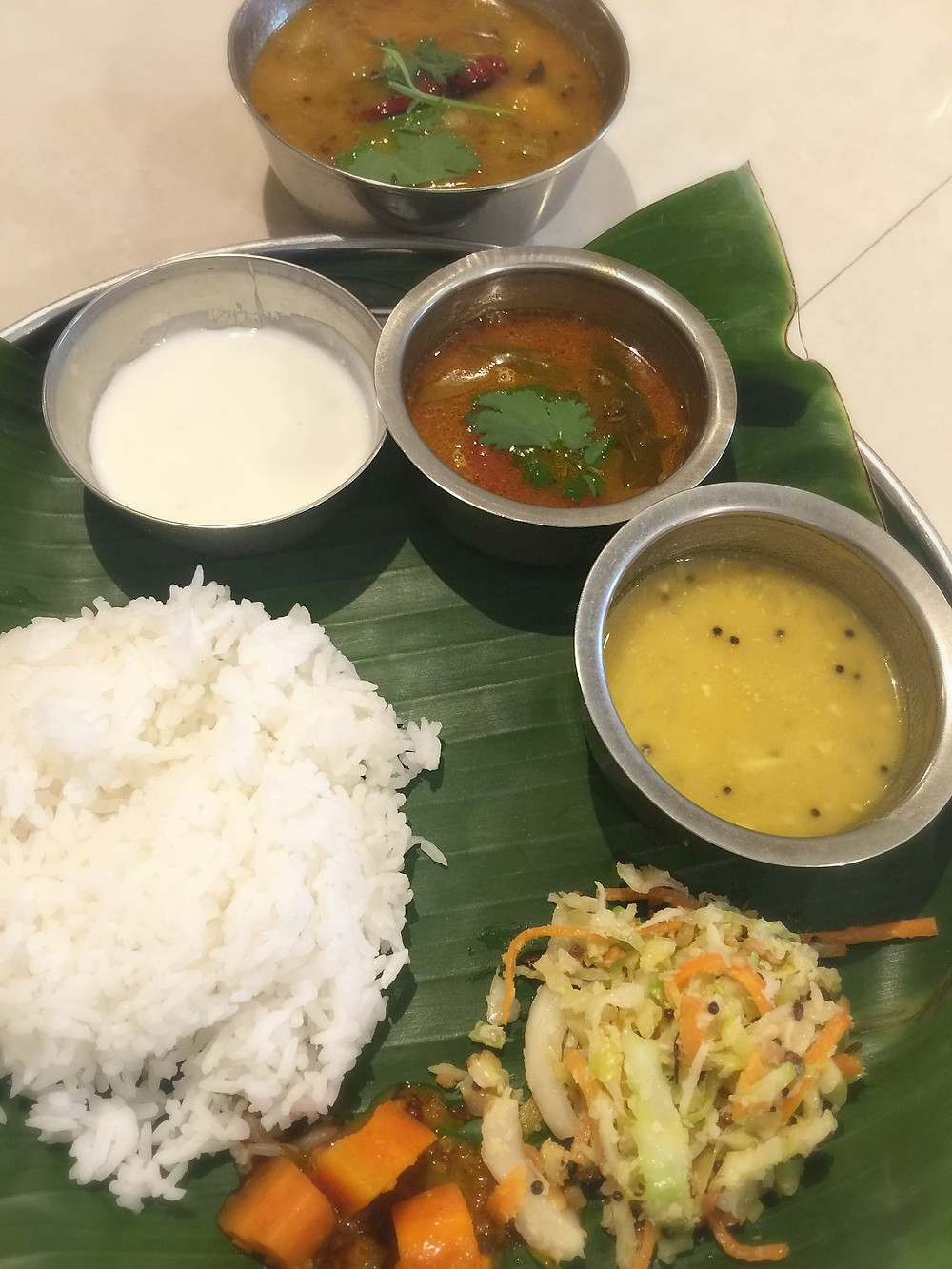 Real banana-leaf meals is a rare treat!