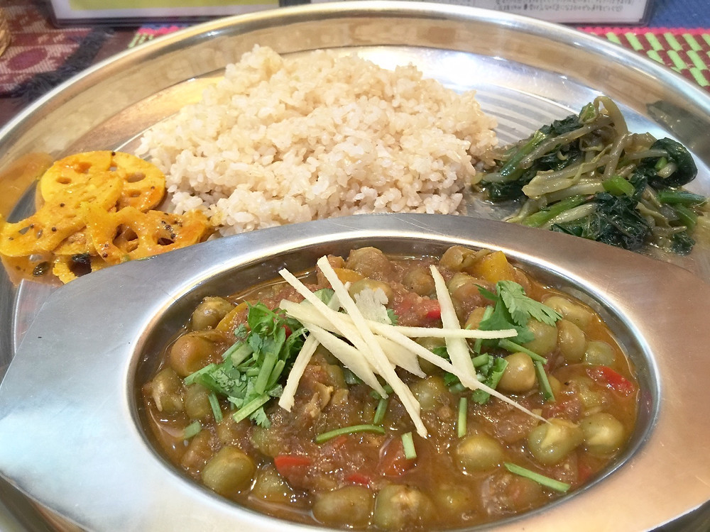 Brown rice is usually served @ Sacche's Curry