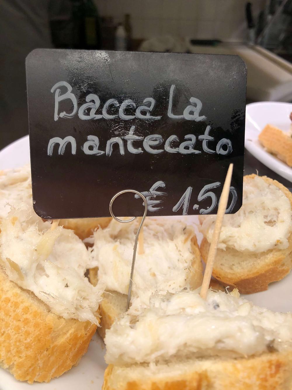 Baccala mantecato @ Al Bottegon/Cantina Chiavi