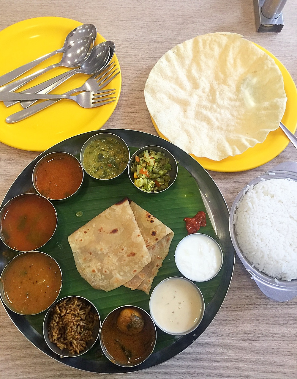 Full view of limited meals @ Sangeetha in Chennai