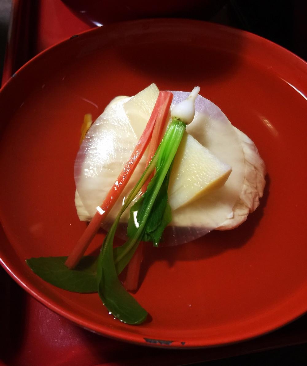 Owan (clear soup) at Ajiro