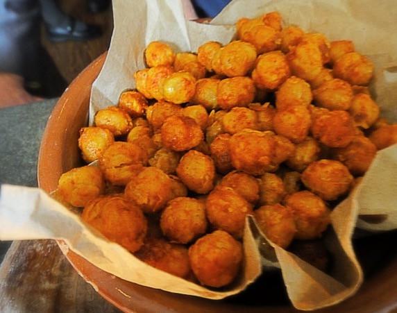 Fried chickpeas @ Al Di La