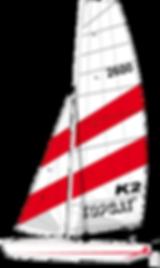 TOPCAT K2 Nautilus24 | vela surf kayak