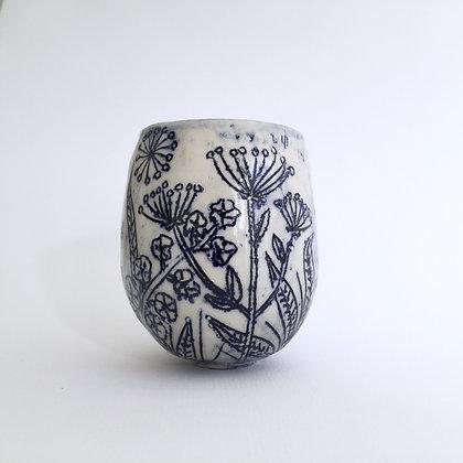 Indigo Wildflower Cup