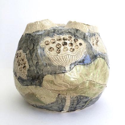 Three-holed Lotus Vase