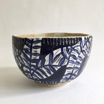Indigo Fern Bowl