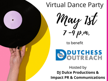 Virtual Dance Party, Club-19 For A Cause, to Benefit Dutchess Outreach