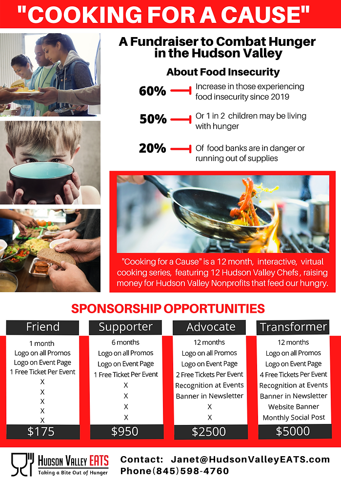 Sponsorship Opportunity for _Cooking for