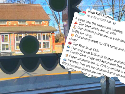 Local Restaurant Post Goes Viral & Gains Support from a Well Known Hudson Valley Chef
