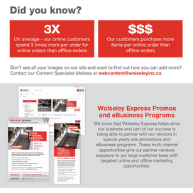 Introductory email to vendors announcing the Wolseley Express Platform  This email was part of a multi-faceted campaign to introduce the new and improved ecommerce website to our vendor partners. Copywriting and collaborative design with agency.