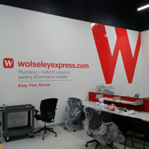 Wolseley Express internal vinyls. Visuals created to promote Wolseley Express visiblity and usage.