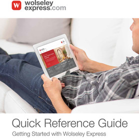 Wolseley Express Quick Reference Guide  Sales and customer support piece designed to provide 'How To' information on key site functionality. Copywriting, co-art direction with design agency.