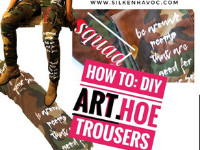 Art Hoe Quote Trousers| Silkscreen Print (Video Included)