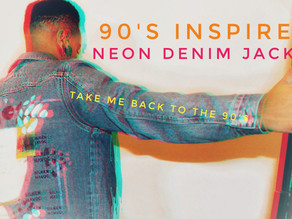 90's Inspired Neon Jacket: Silkscreen Print (Video Included)