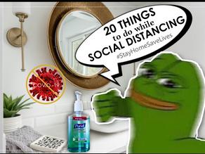 20 FUN Social Distancing Activities  #StayHOMEsavelives