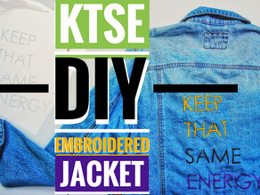 K.T.S.E.| Embroidered jacket |Teyana TayLor Inspired (Video Included)