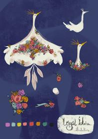 Floral Swan
