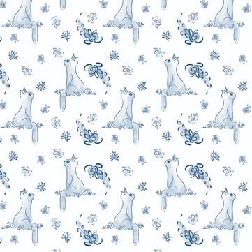 Cat Pattern Layal Idriss