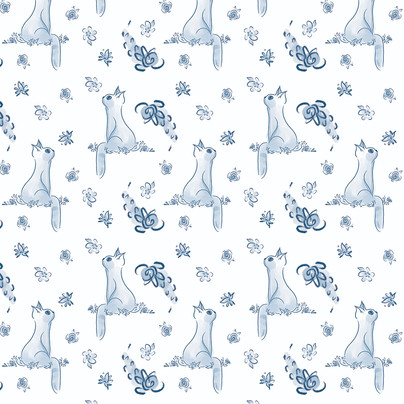 Cat Pattern Layal Idriss