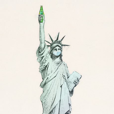 Perrier Instagram;  Statue of Liberty -