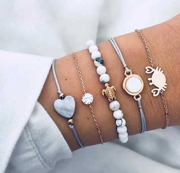 Sea Life Layered Bracelets