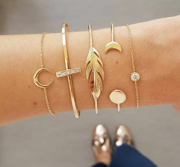 Sun & Moon Bracelet Set