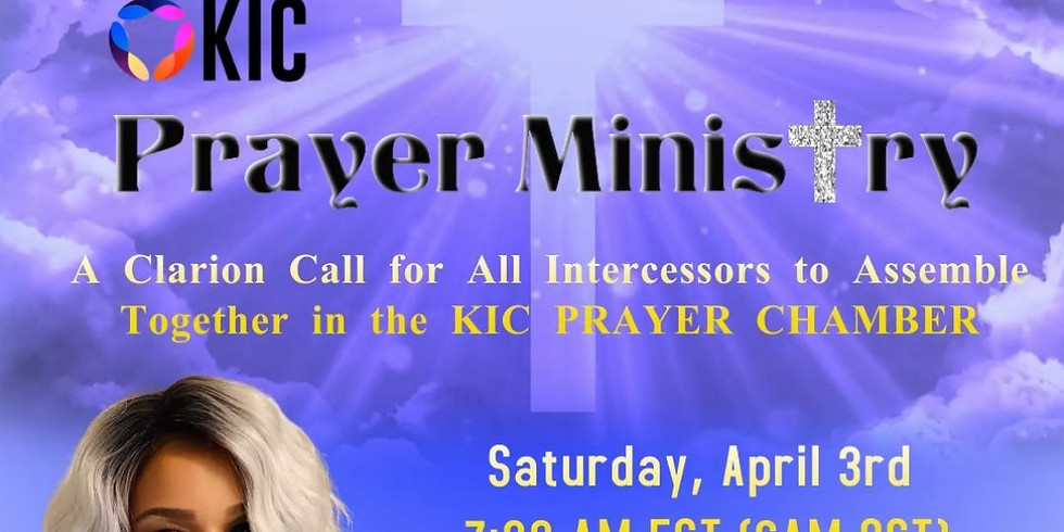KIC Prayer Ministry Monthly Zoom Call