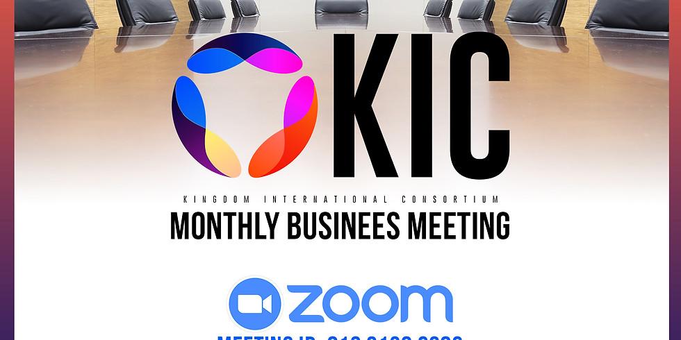 KIC Business Meeting (Virtual)