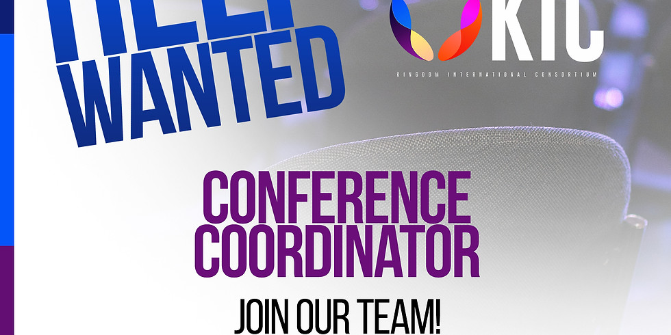 Help Wanted Conference Coordinator