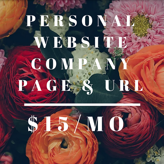 Personal Website Company Page & Url