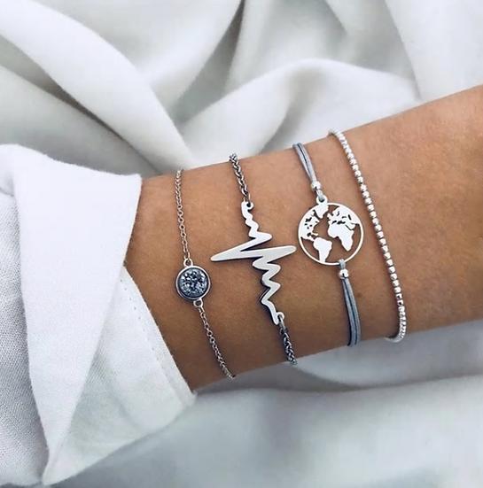 Lifeline Layered Bracelets