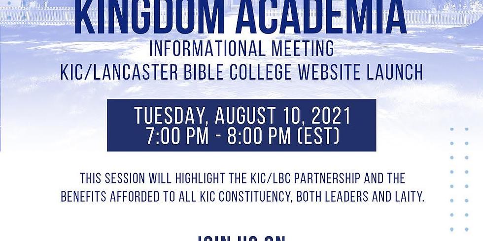 KIC Kingdom Academia Informational Meeting