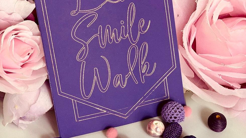 Love, Smile, & Walk inspirational postcard