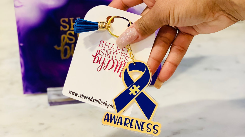 Autism Awareness Acrylic Keychain