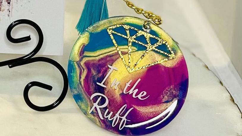 Diamond in the Ruff Acrylic Keychain