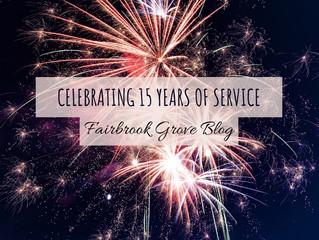 15 Year Service Anniversary!