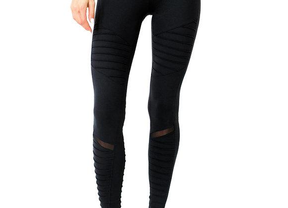 ETHKL Low-Waist Ribbed Black Leggings