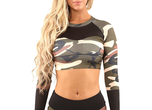 ETHKL Camouflage Sports Top