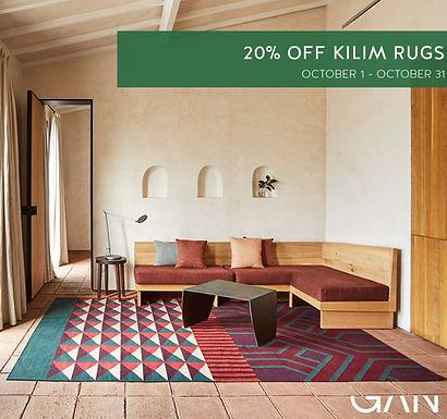 Akcija -20% Gan Rugs kilim kilimų serijai. Spalio 1-31 d.