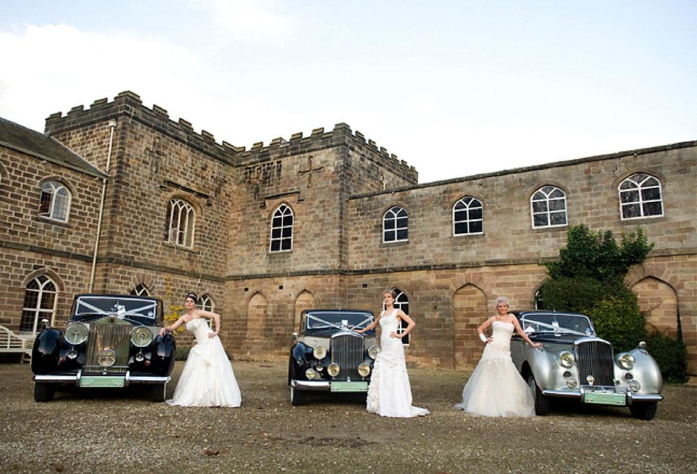 Wedding fair wedding cars Ripley Castle